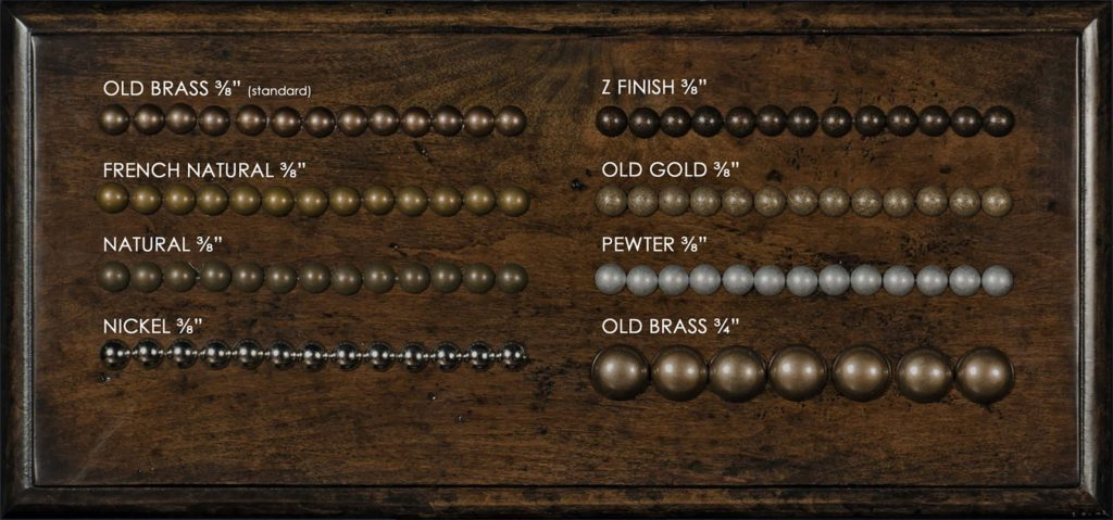 Nailhead Sample Board